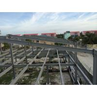 Quality 2 Floor Steel Framed Buildings Warehouse Steel Structure With Alkyd Grey Paint for sale
