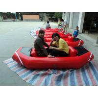 Water park red PVC Inflatable Boat 0.9mm PVC tarpaulin with fireproof Manufactures