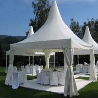 Portable But Durable Pyramid Pagoda Tents / Aluminium Frame/ PVC Fabric Covers Manufactures