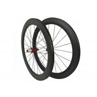 High Precision Carbon Clincher Road Bike Wheels Front 20H Rear 24H Anti High Temperature Manufactures