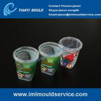 500g thin wall plastic injection mould with in mold label, thin wall mould making with IML Manufactures