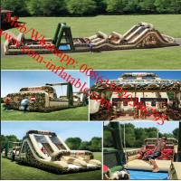 Inflatable Obstacle Course & Interactive Inflatables Adult Militiry Obstacle Course Manufactures