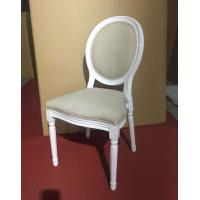 Restaurant  Wedding Dining Chairs Round Back Solid Wooden Material Manufactures