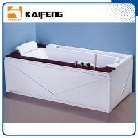 Quality Luxury Single Jacuzzi Tub Air Jet Bathtub With Oak Wood Bead Computer Controller for sale