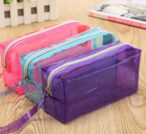 Custom EVA / PVC Pencil Bag Stationary Case , Clear PVC Cosmetic Bag Manufactures