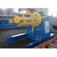 5 Tons Steel Coil Decoiler Roll Forming Production Line With 4KW Power Motor Controlling System Manufactures