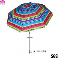 Popular Foldable Sun Beach Umbrella 1.8m / 2.2m For Summer Swimming Manufactures