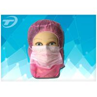 Quality Disposable astronaut cap with face mask  2ply / 3ply earloop , made of polypropylene fabric for sale