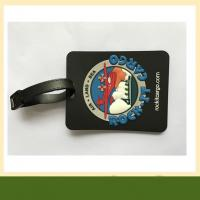 3D embossed PVC Luggage Tag Durable Customized pvc silicone rubber coaster with logo Manufactures