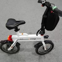 Green 12 Inch Foldable Electric Scooter , Mini Smart Bike 25 km / h Manufactures