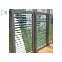 Ventilation Interior Security Shutters , Aluminium Louver Windows For Commercial Manufactures
