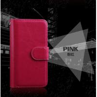 Wrist Strip Leather Iphone 7 Wallet Case , Slim Crazy Horse Leather Wallet Case Manufactures