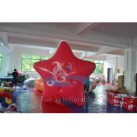 Red Star Custom Shaped Balloons , Event Promotional Helium Balloons Manufactures