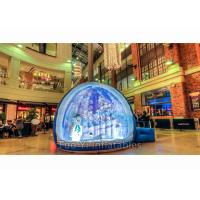 0.8mm PVC Giant Advertising Bubble Tent Night , Inflatable Human Size Snow Globe Manufactures