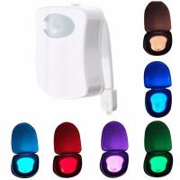 China 8 Colors Rotated LED Toilet Light , Motion Activated Toilet Light Sensor Switch on sale