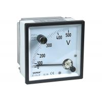 CE Approved Analogue Panel Meters With Change-Over Switch Voltmeter / Voltage Meter Manufactures