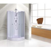 Customized Corner Shower Stall , Curved Corner Shower Units White Painted Profiles Manufactures