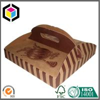 Quality Custom Brown Color Printed Pizza Box with Handle; Food Grade Paper Pizza Box for sale