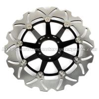 High Performance Motorcycle Floating Brake Rotor Riveted With Aluminum Alloy Carrier Manufactures