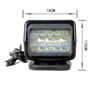 Quality 360 Degree 6000K 50 Watt Marine Led Searchlight IP65 Waterproof , White 12V LED Work Light for sale