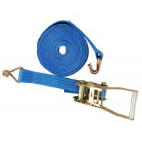 Lashing Belt Ratchet Tie Down Straps With Hooks Wear Resistant Blue Color Manufactures