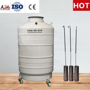 China TIANCHI Cattle Semen Tank 60L Liquid Nitrogen Cylinder on sale