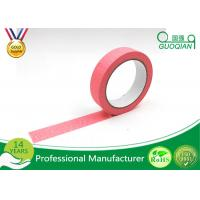 Office Labeling Adhesive Stickers Easy Tear Decorative Craft Tape Pink / Purple / Red Manufactures