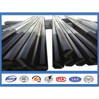 Black Tar Painted Hot Dip Galvanized Steel Pole Coating Octagonal Pole Manufactures