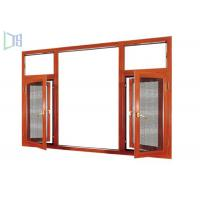 Extruded Aluminium Casement Windows Heat Insulation With 1.0 - 1.4mm Thickness Profile Manufactures