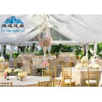 1000 Seater Wedding Event Tents With White PVC Walling 7.2M Ridge Height Manufactures