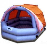 Custom 0.9mm PVC Tarpaulin Inflatable Family Pool With Tent For Water Park Manufactures