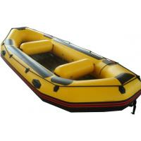 Yellow Small PVC / Hypalon Rafting Inflatable Drift Boat For Summer Manufactures