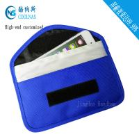 Canvas RFID Travel Bags , Mobile Phone Signal Rfid Blocking Wallet Manufactures
