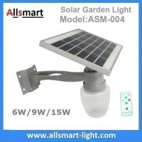 6W/9W/15W Solar Parking Lot LED Light Solar Security Light LED Street Light With Solar Panel Mount On Lamp Pole Post Manufactures