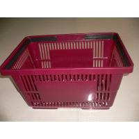 Stackable Large Grocery Plastic Shopping Basket With Double Handles Manufactures