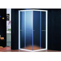 Tempered Clear Glass Shower Enclosures With Sliding Doors / Stainless Towel Bar Manufactures