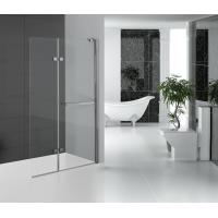 Folding Glass Shower Doors Hinged Shower Screen Chromed Aluminum Profile Manufactures