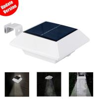 Gutter Waterproof solar powered motion sensor light with 6 LED Bulbs Manufactures