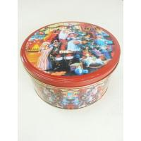 Christmas Cookie Tin Storage Containers , Food Storage Cylindroid Small Tin Boxes Manufactures