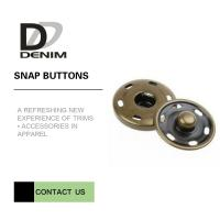 Brass Custom Sew On Snap Buttons For Overcoat Down Jacket / Cotton - Padded Clothes Manufactures