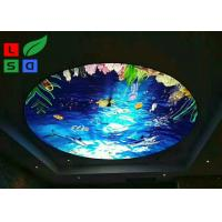 CE Single Sided Round Shape Led Fabric Light Box For Ceiling Hanging Manufactures