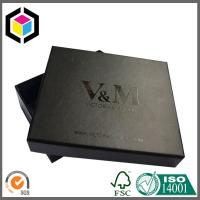 Glossy Spot UV Logo Black Gift Packaging Box; Rigid Chipboard Paper Gift Box Manufactures