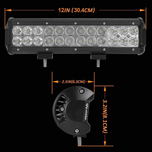 Aluminum Material Auto LED Mini LED Light Bars 3W/PCS Cree LEDS Work Light Bar IP 68 Manufactures
