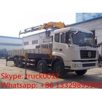 Quality hot sale best price dongfeng 8x4 LHD 14tons crane truck mounted crane, factory for sale