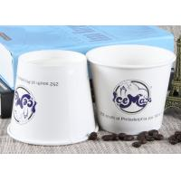 White Branded Ice Cream Cups Biodegradable Hot Soup Cups For Wedding / Party