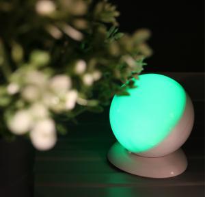 Round Shape Wireless Motion Sensor Night Light , USB Powered Led Lights For Decorating Manufactures