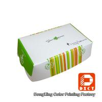 Quality Environmental Friendly Custom Fast Food Packaging , Varnished Chicken Wings Box for sale