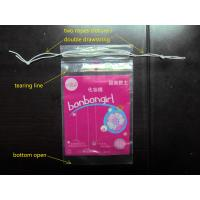 LDPE Clear Plastic Bags With Drawstring For Cotton Swab / Q - tips Manufactures