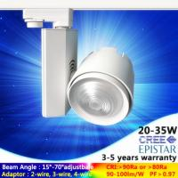 Buy cheap AC230V 15W to 35W black/white LED track light in zoom lens wide/narrow angle from wholesalers