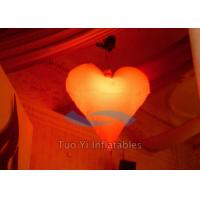 Romantic Heart Shaped Inflatable Party Stage Decoration With Multi - Color Light Manufactures